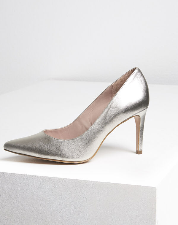 Kelly gold leather high heels (1) - 1-2-3