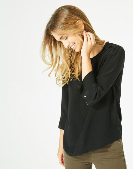 Dorothée black silk blouse (2) - 1-2-3