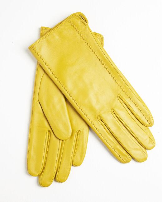 Gants jaune en cuir Ulrick (1) - 37653