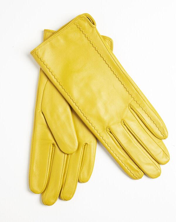 Gants jaunes en cuir Ulrick (2) - 1-2-3