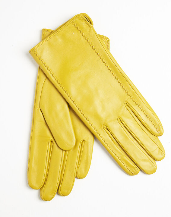 Gelbe Lederhandschuhe Ulrick (1) - 1-2-3