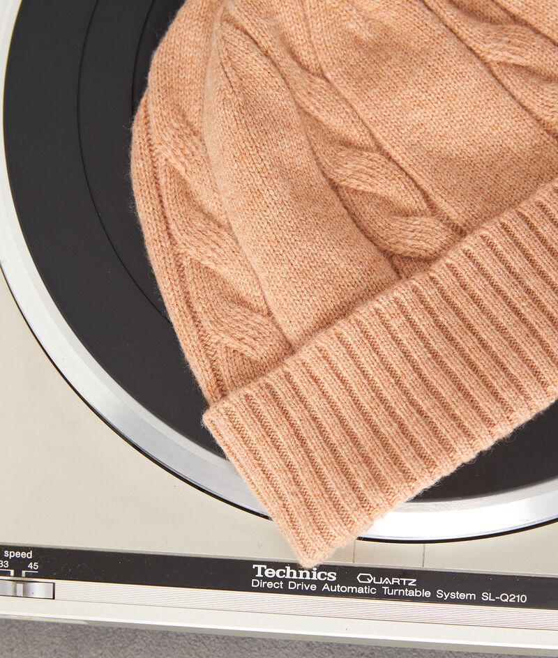 Bonnet trosadé en laine et cachemire camel Idole PhotoZ | 1-2-3
