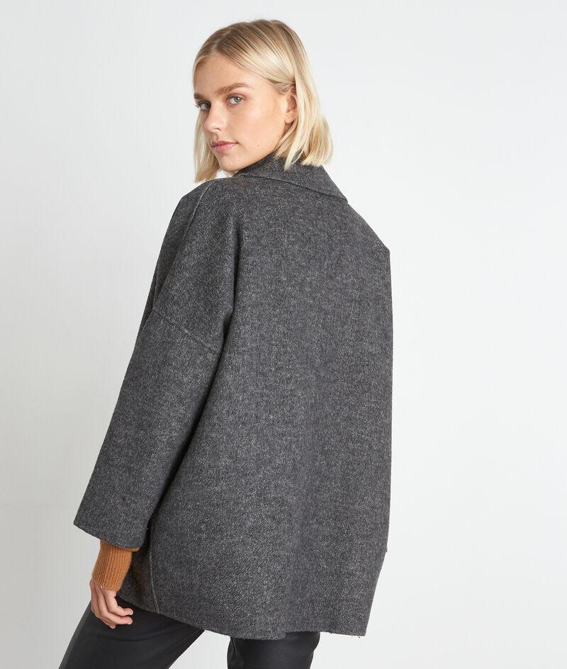 Manteau court en laine gris chiné Lucile PhotoZ   1-2-3