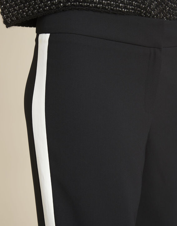 Zwarte broek met witte band Hirvine (3) - 37653