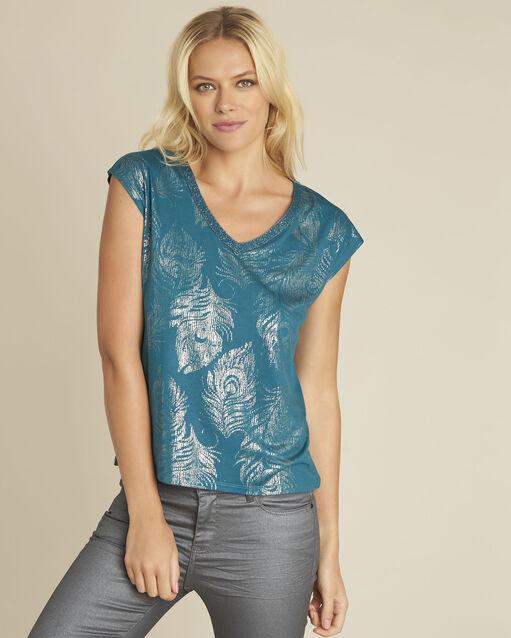 Tee-shirt vert émeraude imprimé Genight (1) - 1-2-3