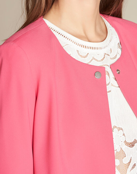 Clementine fuchsia jacket with frilled detailing PhotoZ | 1-2-3