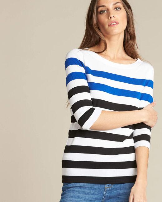 Tee-shirt rayé manches 3/4 Eguemarine (2) - 1-2-3