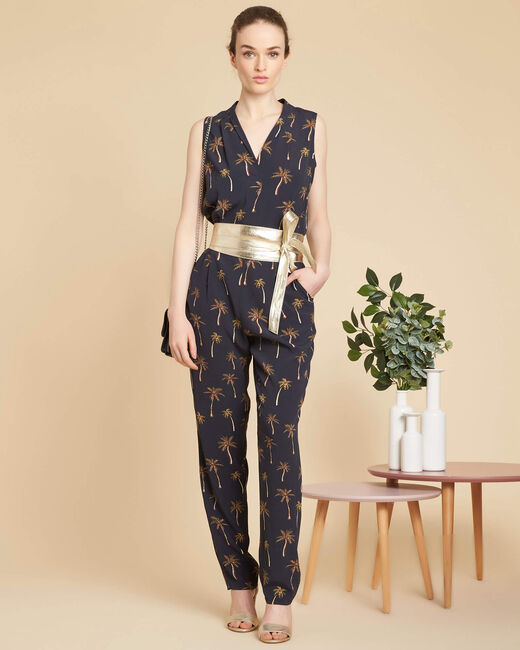 Palmier black jumpsuit with print (1) - 1-2-3