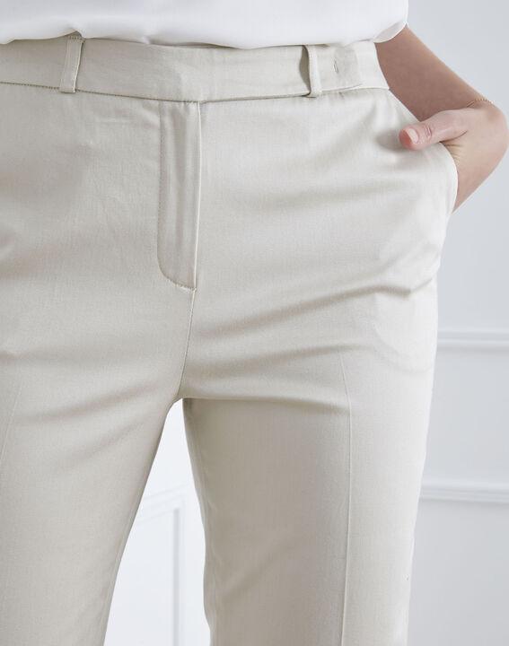 Pantalon beige cigarette Rubis (3) - Maison 123
