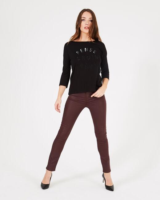 Tee-shirt noir à inscriptions Brise (1) - 1-2-3