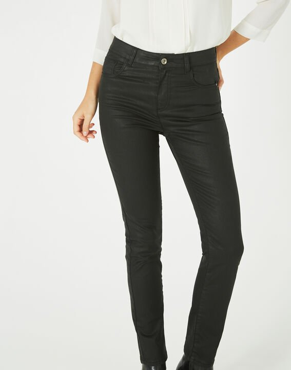 Oliver ⅞-length, coated black jeans (2) - 1-2-3
