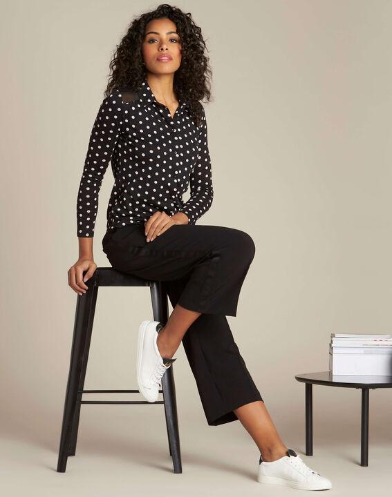 Laura black polka dot T-shirt (2) - 1-2-3