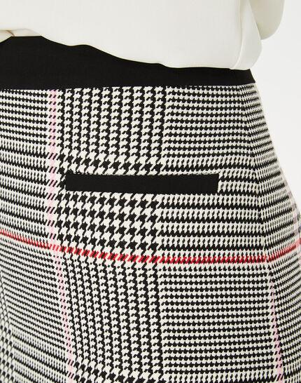 Filao black and white check skirt (3) - 1-2-3