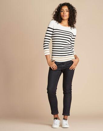 Nautique off-white boat-neck jumper ecru.
