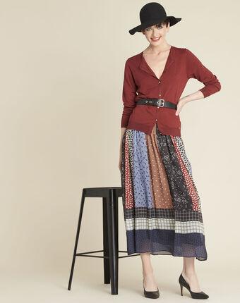 Lange rok met bloemenprint arielle multicolore.
