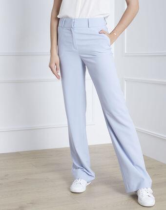 Pantalon large bleu ciel gatien bleu pale.