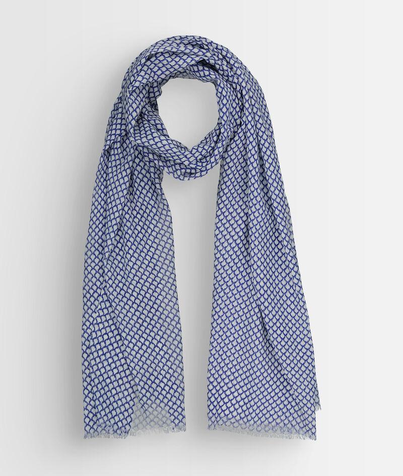 Foulard en coton imprimé bleu Pierre  PhotoZ | 1-2-3