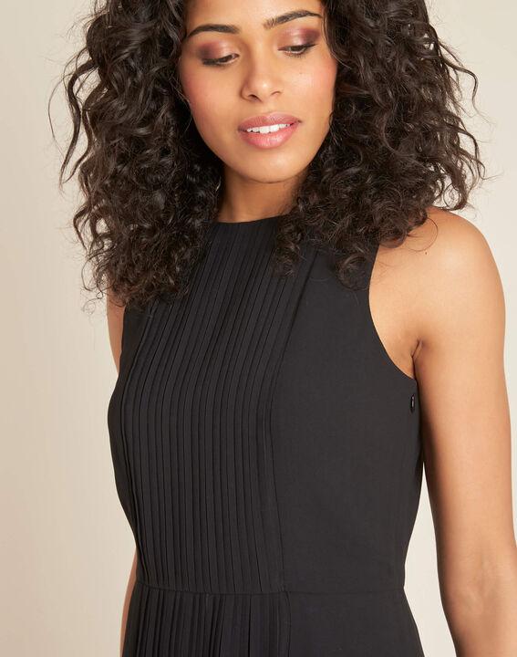 Robe noire plissée mi-longue Isabella PhotoZ | 1-2-3