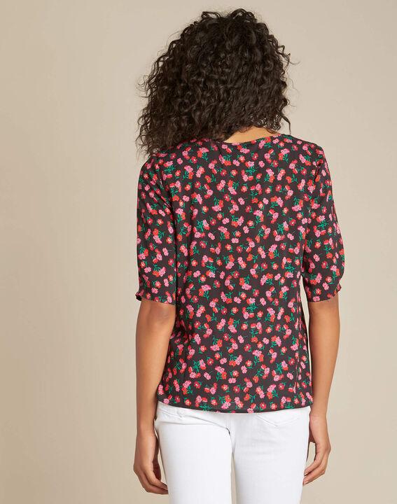 Gentiane black floral printed blouse (4) - 1-2-3