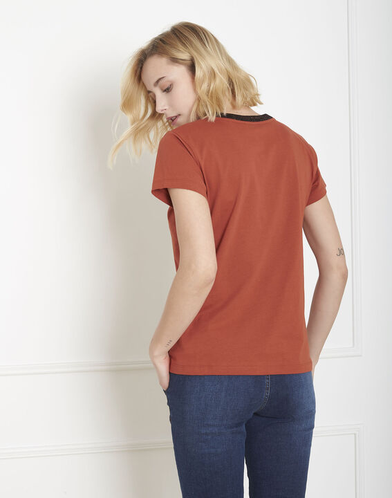 Tee-shirt acajou message Poule (4) - Maison 123