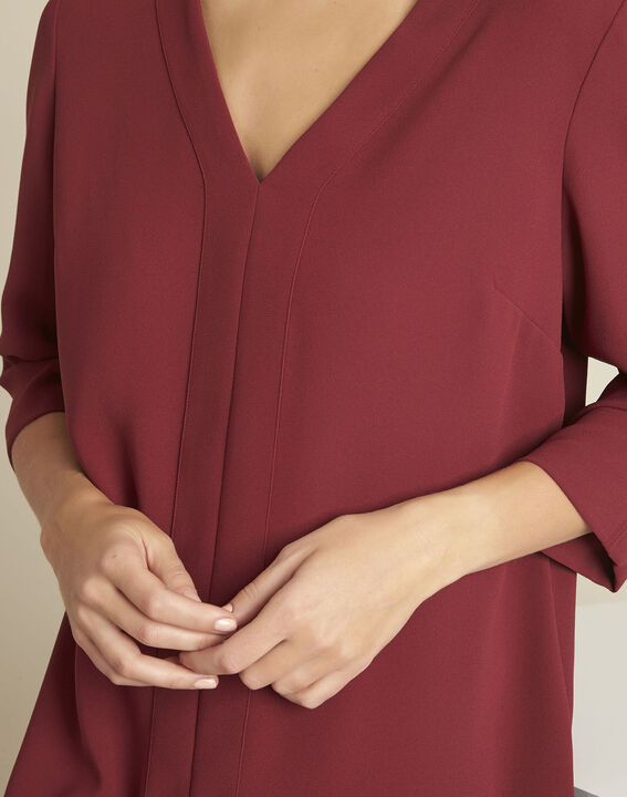 Devy ruby dress with crepe pockets (2) - 1-2-3