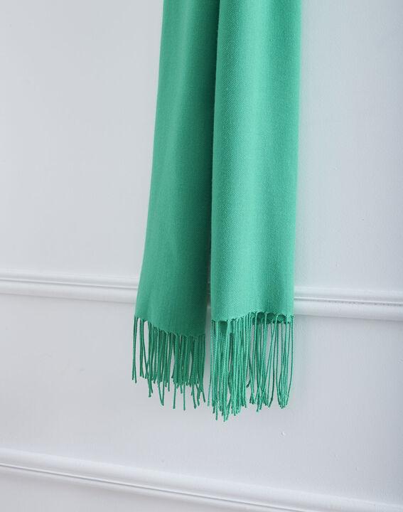 Foulard vert à franges Fossette (2) - Maison 123