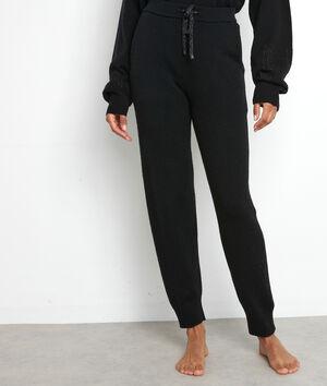 Pantalon en maille noir Tosca