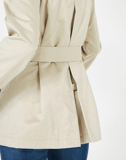 Jeanne short cream trench coat (5) - 1-2-3