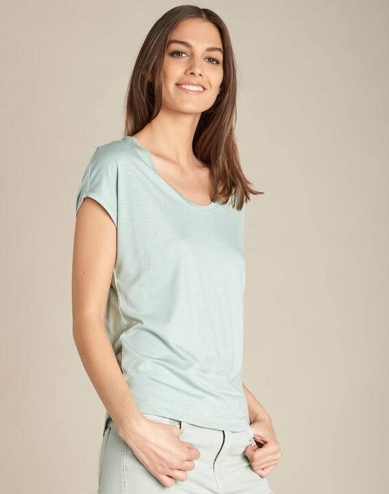 Eaven almond cotton/modal T-shirt (3) - 1-2-3