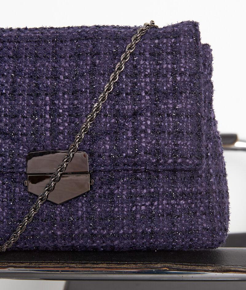 Tasche aus gestepptem Tweed marineblau Virginia Bis PhotoZ | 1-2-3