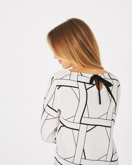Balneo white blouse with a graphic print (2) - 1-2-3