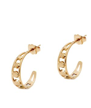 Boucles d'oreilles mini créoles pétale or Bijoux Léone