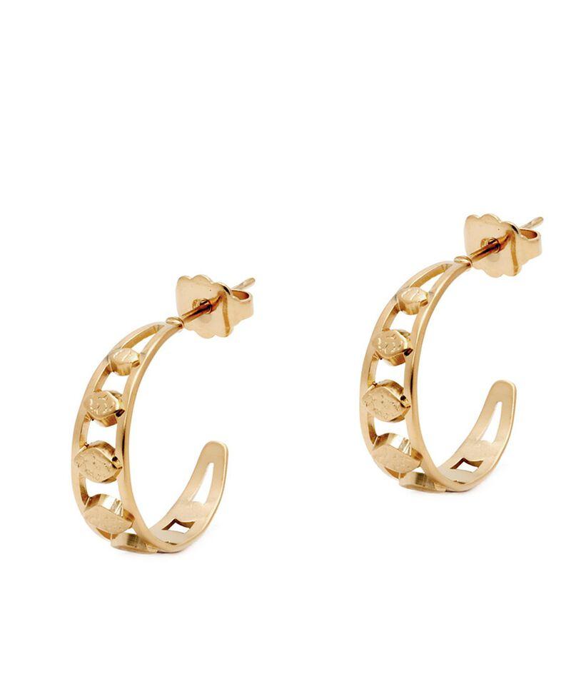 Boucles d'oreilles mini créoles pétale or Bijoux Léone PhotoZ | 1-2-3
