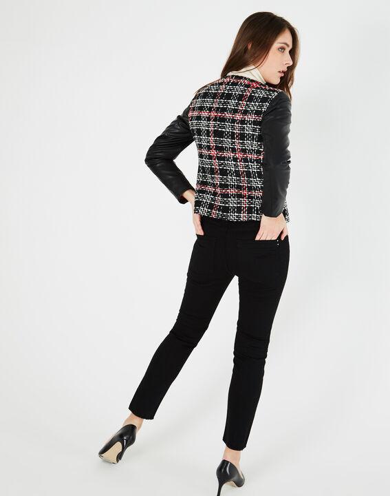 Veste noir & blanc à carreaux Danae (5) - 1-2-3