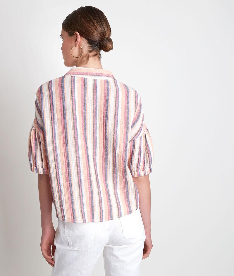 Chemise à manches courtes rayée pastel  Arielle PhotoZ | 1-2-3