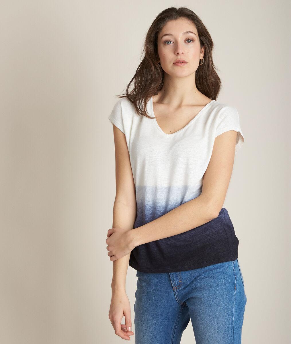 Tee-shirt en lin tye and dye Ruban PhotoZ | 1-2-3