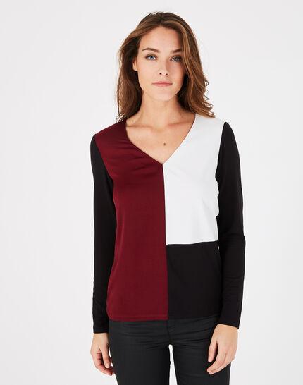 Tee-shirt noir et rose Bradley (3) - 1-2-3