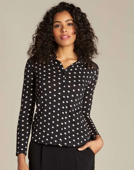 T-shirt noir à pois Laura (3) - 1-2-3