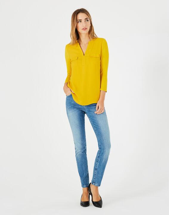 Tee-shirt jaune bi-matière Leden PhotoZ | 1-2-3