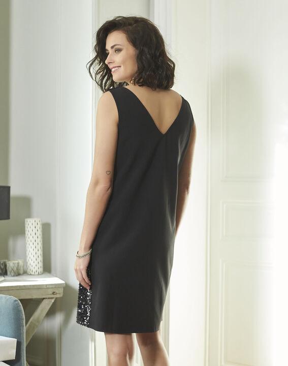 Schwarzes Kleid mit Metallplättchen Noce (4) - 1-2-3
