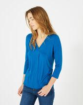 Tee-shirt bleu barbara bleuet.