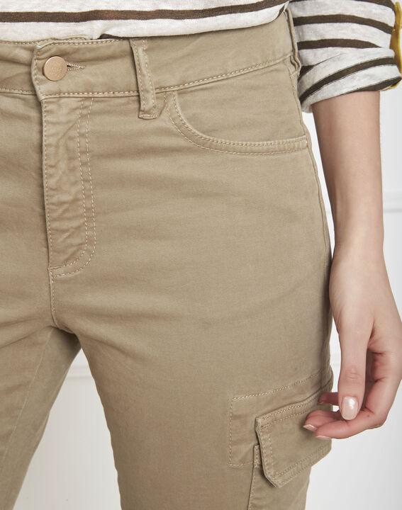 Pantalon kaki cargo Carolina (3) - Maison 123