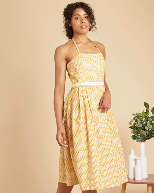 Iceberg yellow dress with embroidered bustier (2) - 1-2-3