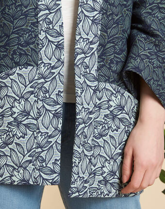 Cassa textured jacket with print almond.