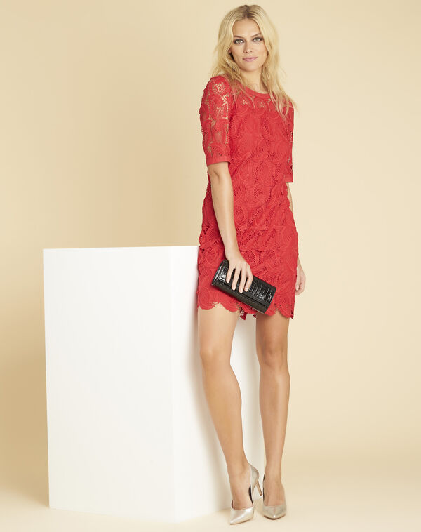 Iska red lace dress (2) - 1-2-3