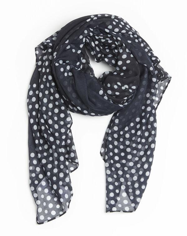 Donkerblauwe sjaal met stippen Fatrie (2) - 37653