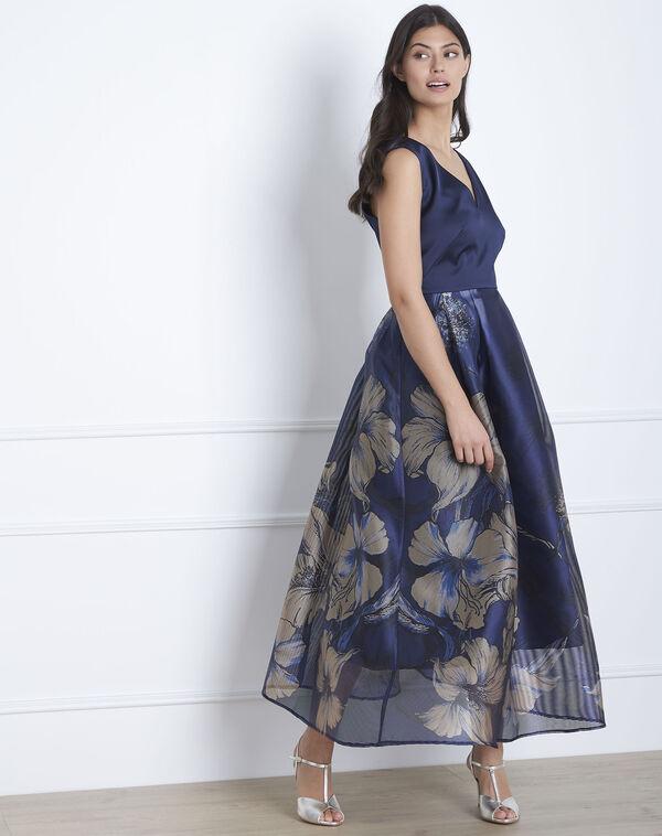 429a059a107e25 ... Marineblauwe lange jurk met print Helegance (2) - Maison 123 ...