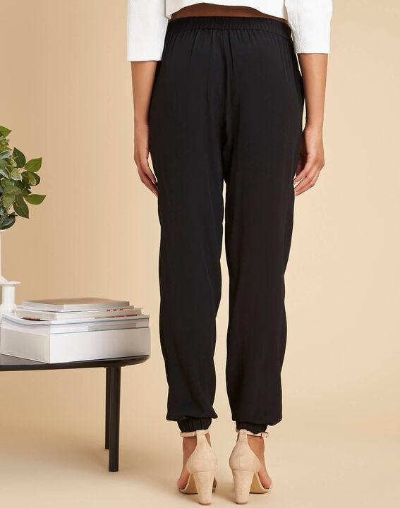 Pantalon noir fluide cheville Scoty (4) - 1-2-3