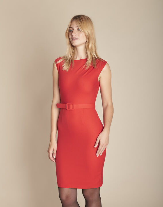 Robe rouge drapée Idalie PhotoZ | 1-2-3