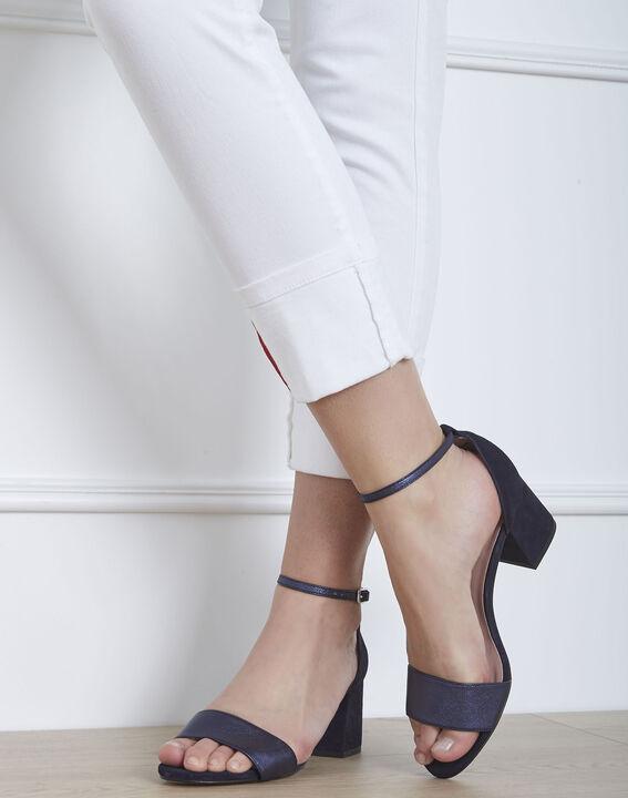 Sandales ouvertes bleues en cuir Khloe (4) - Maison 123